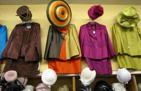 Shivern's Fashions sells hats and clothes for women.